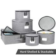 China Storage Set, Hard Shell and Stackable, for Dinnerware Storage