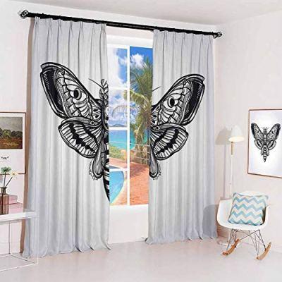 Skull Sun Protection Insulated Bedroom Living Room Curtain Dead Moth