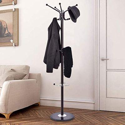"""COSTWAYUS Costway 67"""" Coat Rack Stand with Umbrella Holder"""