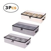 In kds Clothes Shoes Organizer Multifunction Foldable Under The Bed Storage Box