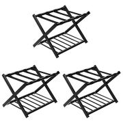 Tangkula Luggage Rack (Set of 3), Folding Metal Suitcase Luggage Stand