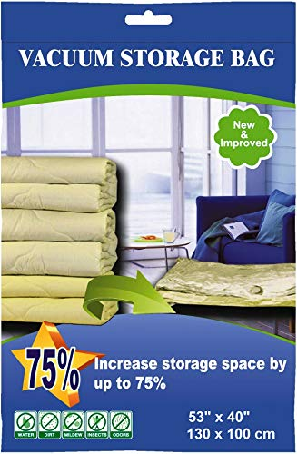 50 Pack 130cmX100cm Jumbo Space Saver Vacuum Storage Bag
