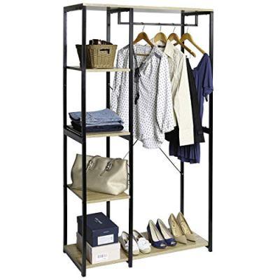 Seville Classics 5-Tier Freestanding Metal Garment Rack