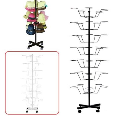 Hat Rotating Display Rack Stand, 7 Tiers 35 Hats Caps Holders