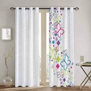 SONGDAYONE Kids Curtain Colorful Home Decor Privacy Protection