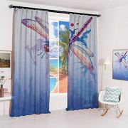 Dragonfly Sun Protection Insulated Bedroom Living Room Curtain