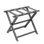 Gate House Furniture Grey Straight Leg Dark ECO Folding Luggage Rack