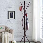 Kings Brand Furniture - Corbet Metal 12 Hook Standing Coat & Hat Rack