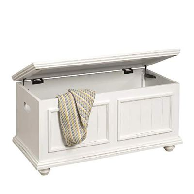 HomePop Notting Hill Wood Storage Trunk with Hinged Lid
