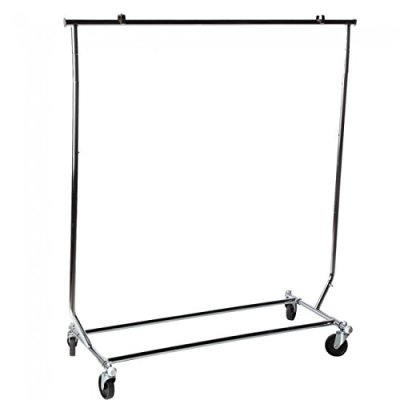 NAHANCO Collapsible Metal Rolling Garment Rack, Commercial Grade