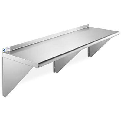 GRIDMANN NSF Stainless Steel Kitchen Wall Mount Shelf Commercial Restaurant