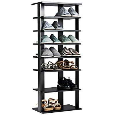 Tangkula Wooden Shoes Racks, Entryway Shoes Storage Stand