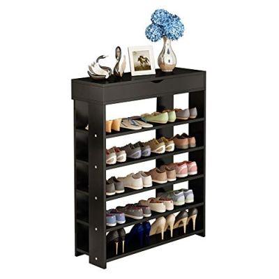 soges 5-Tier Shoe Rack 29.5 inches Wooden Shoe Storage Shelf Shoe Organizer