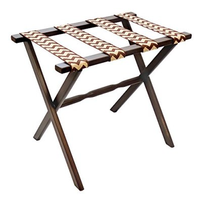 Gate House Furniture Straight Leg Designer Series Wood Luggage Rack