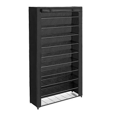 SONGMICS 10-Tier Shoe Rack, Shoe Storage with Dust Cover