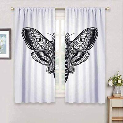 HouseLook Skull UV Protection Blackout Curtain Dead Moth