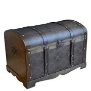 Styled Shopping Antique Victorian Wood Trunk Wooden Treasure Hope Chest