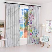 GUUVOR Colorful Sun Protection Insulated Bedroom Living Room Curtain