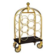 Godinger Bar Cart Wine Rack Barware Luggage Trolley Serving Cart