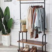 Industrial Clothing Rack, Pipe Style Rolling Garment Rack