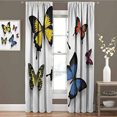 funkky Butterfly Soft Curtain Various Colorful Butterflies Pattern and Moths