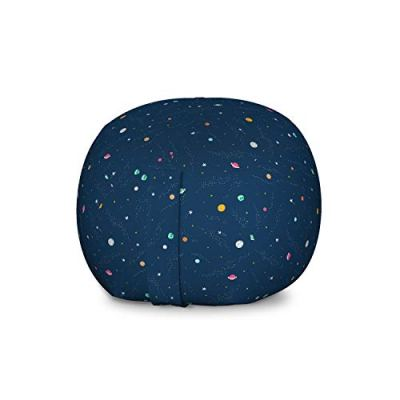 Lunarable Outer Space Storage Toy Bag Chair, Solar System