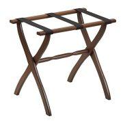 Gate House Furniture Contour Leg Series Nylon Wood Luggage Rack
