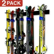 StoreYourBoard Ski Wall Storage Rack, 2 Pack Holds 16 Pairs