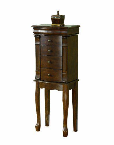 Powell Louis Philippe Jewelry Armoire, Walnut