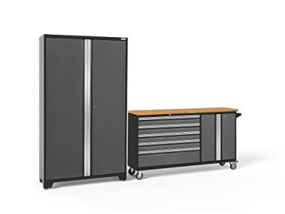 NewAge Products Bold 3.0 Gray 2 Piece Set, Garage Cabinets