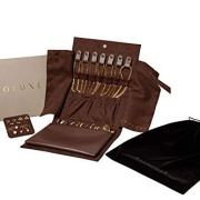 DECOLUXE Jewelry Travel Organizer for Storing Rings, Necklaces, Earrings and Bracelets (Brown)