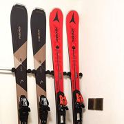 UPHAN Aluminum Heavy Duty Ski and Snowboard Wall Mount Rack