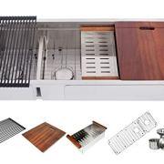 Ariel Enthous Workstation 48 Inch Double Bowl Undermount 16 Gauge