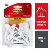 Command Utility Hooks, White, 24 hooks, 28 strips