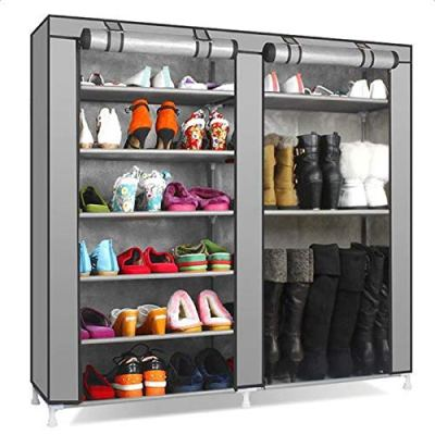 Dongtu Double Rows 9 Lattices Combination Style Shoe Cabinet 9 Tiers