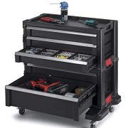 Keter Modular Locking and Rolling Tool Chest with Wheels and Drawers