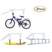 Barbella 3-Set Bike Lift Hoist for Garage Storage, Kayaking Pulley Rack Heavy Duty