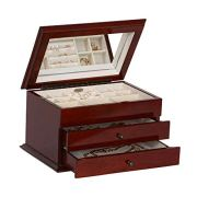 Mele & Co. Brayden Wooden Jewelry Box, Ring, Necklace, and Earring Organizer