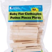 Loew-Cornell Simply Art Wood Baby Flat Clothespins 50 ct.