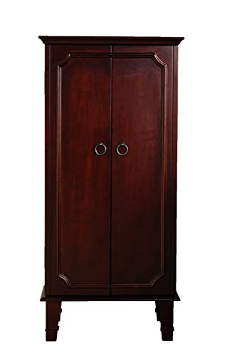 Hives and Honey Cabby Armoire Jewelry Cabinet Fully Locking, Cherry