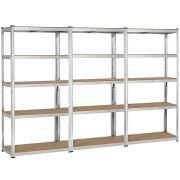 Topeakmart 5 Tier Storage Rack Heavy Duty Adjustable Garage Shelf Steel