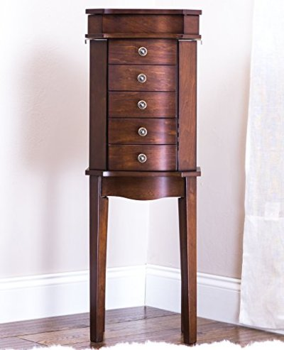 Hives & Honey Meg Stand Jewelry Armoire, Walnut
