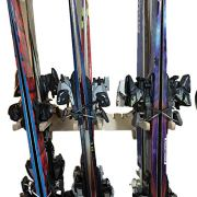 Premium Wall Mounted Ski/Snowboard Storage | Holds up to 6 Pairs of ski's