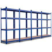 TANGKULA Metal Storage Shelves, 63 inches Heavy Duty Steel Frame