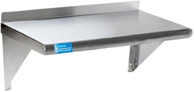 """AmGood 14"""" X 48"""" Stainless Steel Wall Shelf   NSF Certified   Appliance & Equipment Metal Shelving   Kitchen, Restaurant, Garage, Laundry, Utility Room"""