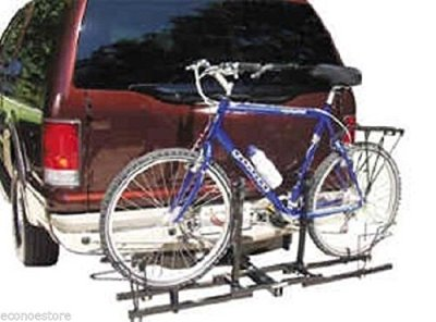 "Double Hitch Platform Rack 2 Bike Carrier Rack 2"" Receiver Mount SUV Trucks"