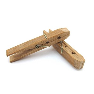BambooMN Heavy Duty Carbonized Bamboo Clothes Pins for Crafts, Clothes and More - 48 Count