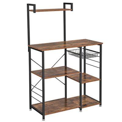 VASAGLE ALINRU Baker's Rack with Shelves, Kitchen Shelf with Wire Basket