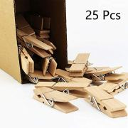 """fairy maker 25Pcs Large Wooden Clothespins,2.8"""" Long 0.7"""" Wide,Sturdy and Heavy Duty Clips (25)"""