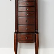 Hives and Honey Morgan Armoire Jewelry Cabinet, Dark Walnut